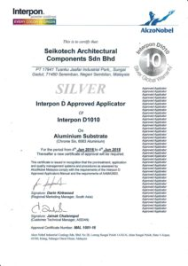 Certified Interpon D Approved Applicator